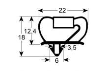 Burlete o junta perfil electrolux.10