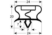 Burlete o junta perfil gram.3