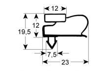 Burlete o junta perfil gram.4