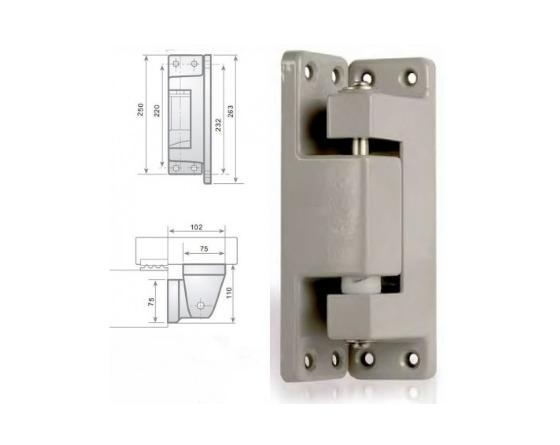 Bisagra vertical c/rampa epoxy gris i-211