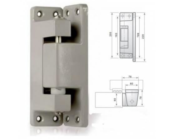 Bisagra vertical c/rampa epoxi gris i-215 (i)