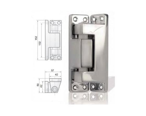 Bisagra vertical epoxy gris 152mm g-207-p