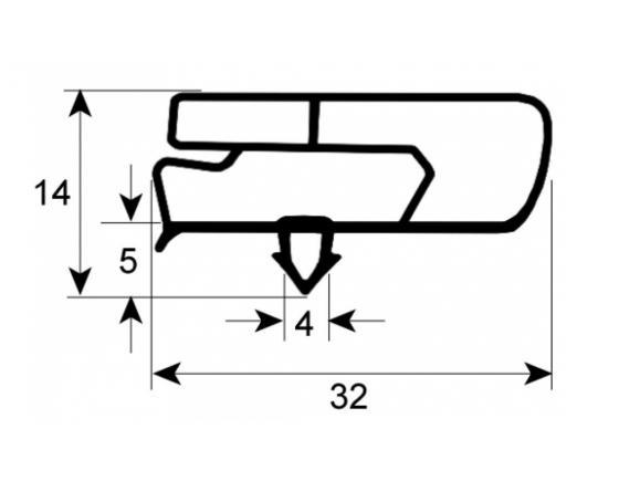 Burlete 640x740mm armario puerta fagor