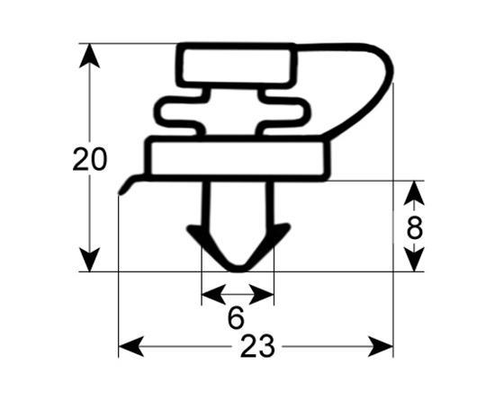 Burlete para frigorífico  cookmax  an 395mm l 490mm