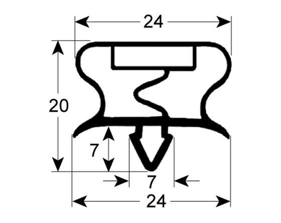 Burlete para frigorífico gemm an 470mm l  640mm