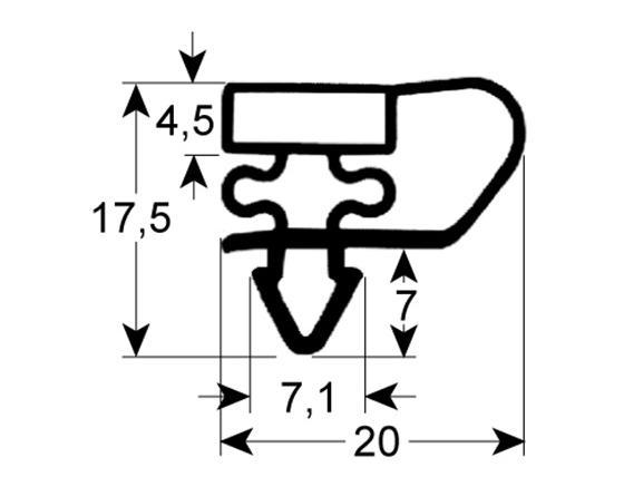 Burlete para frigorífico mafirol an 345mm l 473mm mafirol