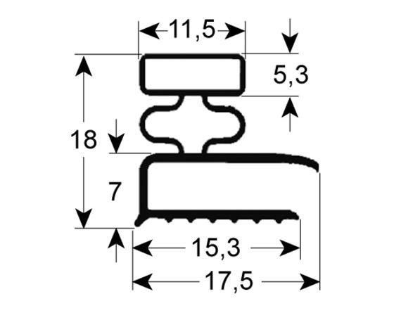 Burlete para frigorífico morice an 185mm l  555mm