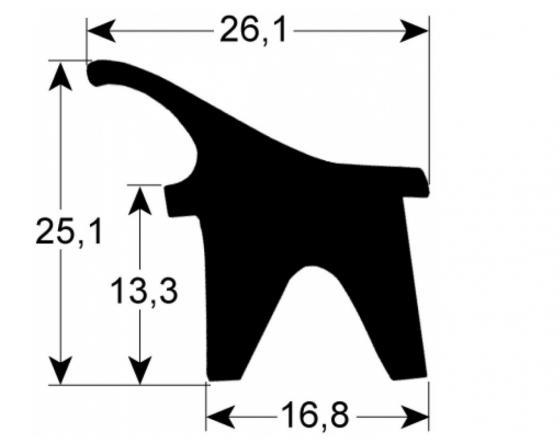 Burlete puerta horno hia-10 tira de  3m  repagas
