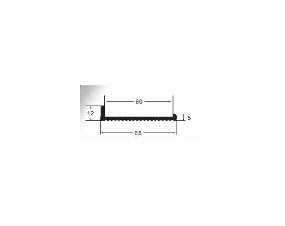 Burlete pvc n-7 negro l 10x60 e (tira 2m)