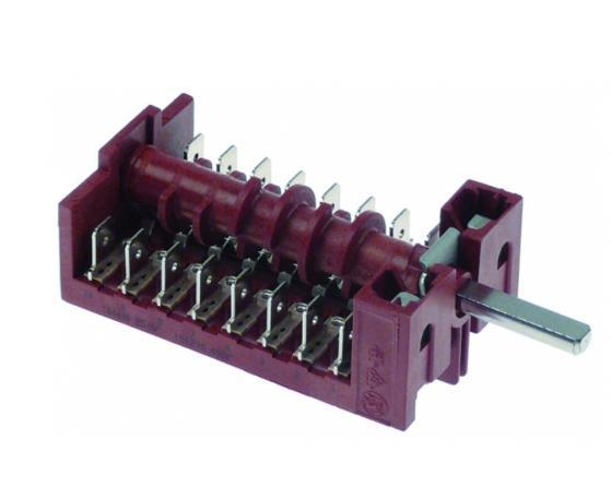 Conmutador 5 posiciones 16a 250v Ø6x4.6mm roller grill
