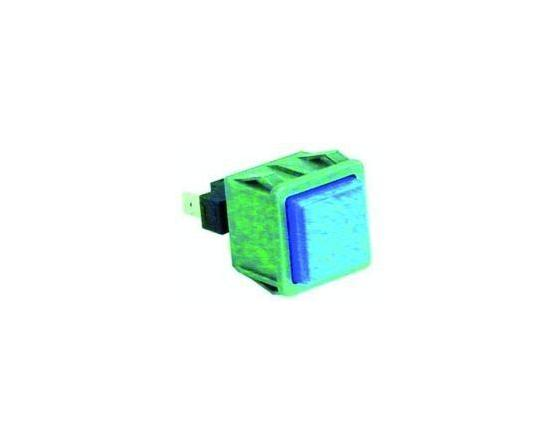Pulsador azul 28x28mm c40/lp1 dihr