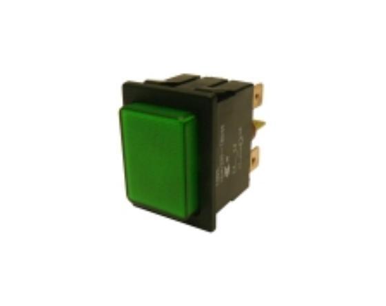 Pulsador verde 30x22mm 230v ciclo sammic
