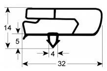 Burlete 460x265mm msp cajon 1/2 fagor