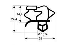 Burlete para frigorífico  bonnet  an 637mm l 1512mm