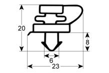 Burlete para frigorífico forcar an 615mm l  1445mm