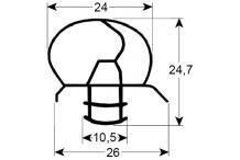 Burlete para frigorífico frenox an 700mm l 1835mm