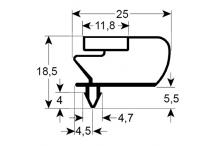 Burlete para frigorífico  inomak an 515mm l 650mm