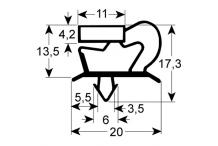 Burlete para frigorífico modular an612mm l 1531mm