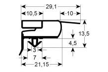Burlete para frigorífico mondiali an  736mm l 1540mm