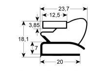 Burlete para frigorífico roller-grill an 450mm l 1210mm