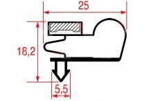 Burlete puerta armario perfil 1007 1422x661mm
