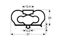 Burlete puerta b. mostrador mr-mp-b 613X538 mm PERFIL 1051 Infrico