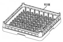 Cesto platos 500x500 modelo cp-64b v-50/v-70