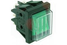 Conmutador verde 30x22mm 230v con funda