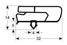 Junta para frigorífico perfil 9797 l 2500mm