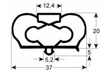 Junta para frigorífico perfil 9798 l 2500mm infrico