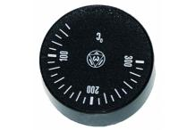 Mando termostato 0-300°c Ø42mm eje Ø6x4,6mm
