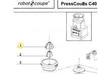 Ojiva exprimidor robot coupe presscoulis c40