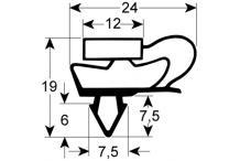 Burlete Magnético ENCASTRE:1537x565mm Blanco  Tensai Difri