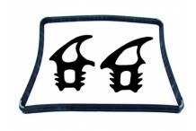 Burlete puerta horno m 101/v 101 Cookmax, Lainox, Mareno, Olis