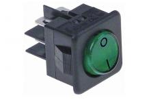 Interruptor verde 25x25mm 230v marcha jemi