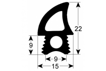 junta de puerta perfil 2767 L 1780mm para TECNOEKA