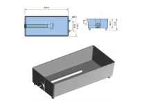 Bandeja de evaporación de agua de aluminio con resistencia PTC Resistencia